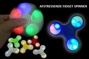 Fidget Spinner med LED-lys