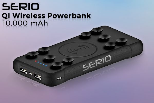 SERIO 2-i-1 QI Powerbank
