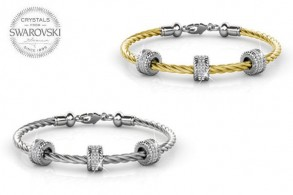 Roller Bangle med charms
